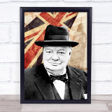 Winston Churchill Great Britain London Town Retro Punk Wall Art Print