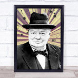 Winston Churchill Vintage Funky Wall Art Print