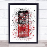 Watercolour Splatter Spanish Star Red Beer Can Wall Art Print