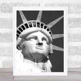 Statue Of Liberty B & W Wall Art Print