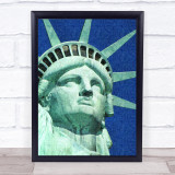 Statue Of Liberty Impressionist Wall Art Print