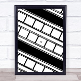 Film Reels Diagonal Wall Art Print