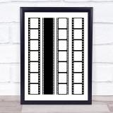 Film Reels Vertical Wall Art Print