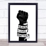 Black Lives Matter Fist Wall Art Print