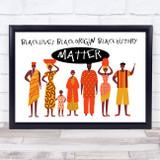 Black Lives Origin History Matter Landscape Wall Art Print