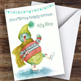 Cute Turtle Amazing Christmas Personalised Christmas Greetings Card