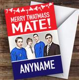 Inbetweeners Funny Merry Twatmass Personalised Christmas Greetings Card
