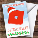 Roblox Christmas O In The Snow Personalised Children's Christmas Card