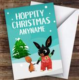 Bing Bunny Hoppity Christmas Personalised Children's Christmas Card