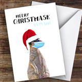 Meery Christmask Funny Meerkat Funny Corona Lockdown Personalised Christmas Card