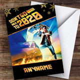 Funny Back To The Future 2020 Corona Lockdown Personalised Christmas Card