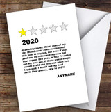 Funny Corona 1 Star Review 2020 Lockdown Personalised Christmas Card