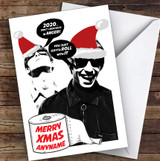 Funny Oasis Roll With It Corona Lockdown Personalised Christmas Card