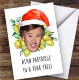 Funny Alan Partridge In A Pear Tree Joke Personalised Christmas Card