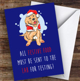 Funny Labrador Dog Food Joke Personalised Christmas Card