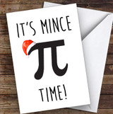 Funny Maths Mince Pi Joke Personalised Christmas Card
