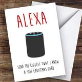Funny Alexa Joke Personalised Christmas Card