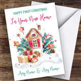 First Christmas In New Home Gingerbread House New Home Christmas Card