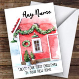 First Christmas In New Home Personalised New Home Christmas Card