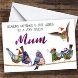 Cute Birds Very Special Mum Personalised Christmas Card