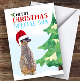 Special Son Meery Christmas Personalised Christmas Card