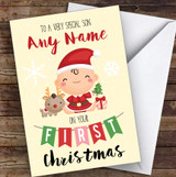 Baby's First Christmas Son Personalised Christmas Card