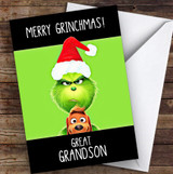 Great Grandson Grinchmas Personalised Christmas Card