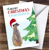 Fiancée Meery Christmas Personalised Christmas Card