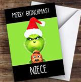 Niece Merry Grinchmas Personalised Christmas Card