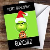 Godchild Grinchmas Personalised Christmas Card
