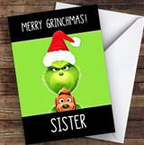 Sister Grinchmas Personalised Christmas Card