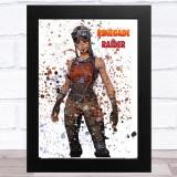 Splatter Art Gaming Fortnite Renegade Raider Kid's Room Children's Art Print