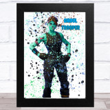 Splatter Art Gaming Fortnite Ghoul Trooper Kid's Room Children's Wall Art Print