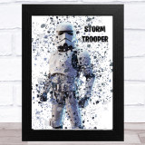 Splatter Art Gaming Fortnite Storm Trooper Kid's Room Children's Wall Art Print