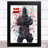 Splatter Art Gaming Fortnite Black Knight Kid's Room Children's Wall Art Print