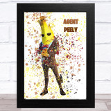 Splatter Art Gaming Fortnite Agent Peely Kid's Room Children's Wall Art Print