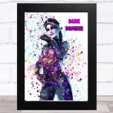 Splatter Art Gaming Fortnite Dark Bomber Kid's Room Children's Wall Art Print