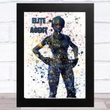 Splatter Art Gaming Fortnite Elite Agent Kid's Room Children's Wall Art Print