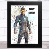 Splatter Art Gaming Fortnite Tony Stark Kid's Room Children's Wall Art Print