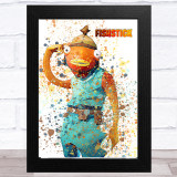 Splatter Art Gaming Fortnite Fishstick Kid's Room Children's Wall Art Print