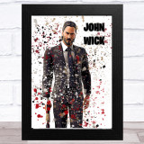 Splatter Art Gaming Fortnite John Wick Kid's Room Children's Wall Art Print