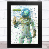 Splatter Art Gaming Fortnite Leviathan Kid's Room Children's Wall Art Print