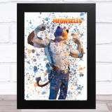 Splatter Art Gaming Fortnite Meowscles Kid's Room Children's Wall Art Print