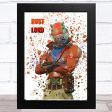 Splatter Art Gaming Fortnite Rust Lord Kid's Room Children's Wall Art Print