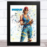 Splatter Art Gaming Fortnite Sparkplug Kid's Room Children's Wall Art Print