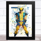 Splatter Art Gaming Fortnite Wolverine Kid's Room Children's Wall Art Print