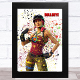 Splatter Art Gaming Fortnite Bullseye Kid's Room Children's Wall Art Print