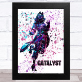 Splatter Art Gaming Fortnite Catalyst Kid's Room Children's Wall Art Print