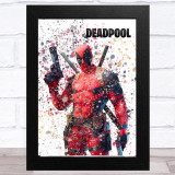 Splatter Art Gaming Fortnite Deadpool Kid's Room Children's Wall Art Print
