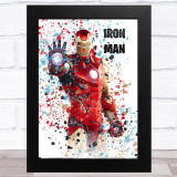 Splatter Art Gaming Fortnite Iron Man Kid's Room Children's Wall Art Print